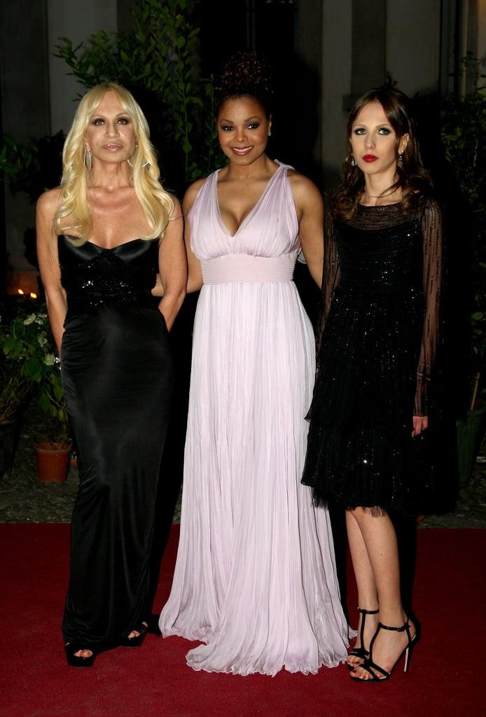 Donatella Versace, Janet Jackson, Allegra Beck Versace