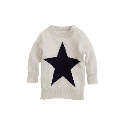 J.Crew Collection Cashmere Baby Sweater in Star ($145)