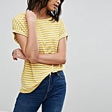 Soaked In Luxury Striped Roll Sleeve T-Shirt
