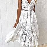 Angashion Sexy Lace Dress
