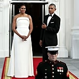 In August, the president and first lady hosted a state dinner for Singapore's Prime Minister Lee Hsien Loong, and it's clear Barack couldn't get enough of Michelle's stunning gown.