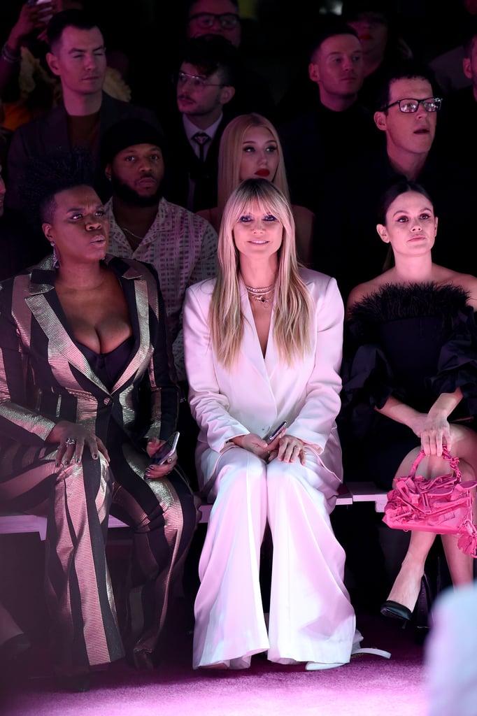 Leslie Jones Hypes Up Coco Rocha at Christian Siriano NYFW