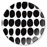 Koppelo print dinner plate set in black ($25)