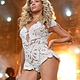 """December during her """"Mrs. Carter Show World Tour"""" performance in LA."""