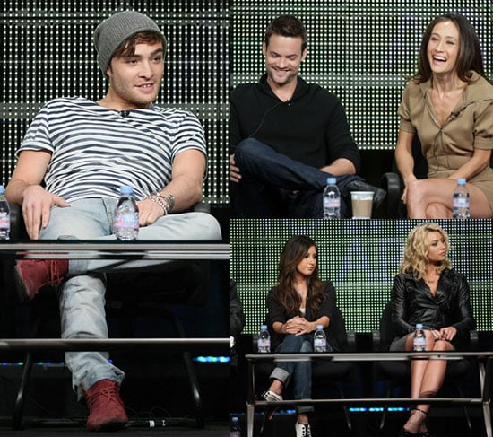 Pictures of Ed Westwick, Michael C Hall, Matt LeBlanc at Showtime and CW TCA Day