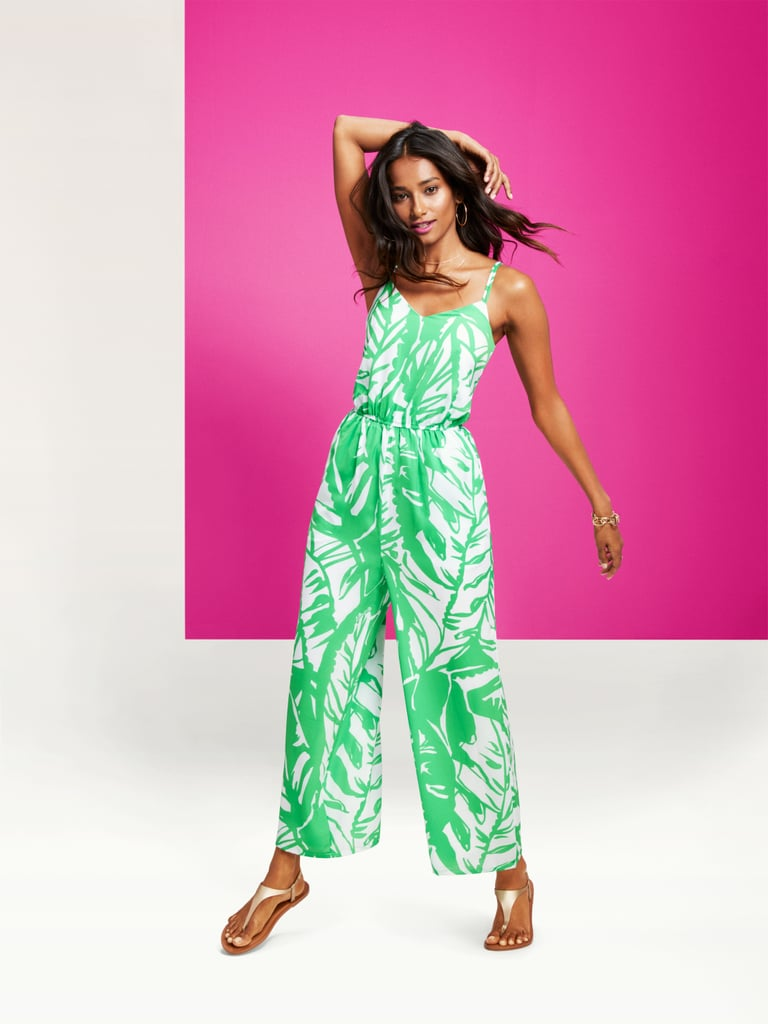 Lilly Pulitzer for Target Women's Boom Boom Sleeveless Neck Jumpsuit in Green/White