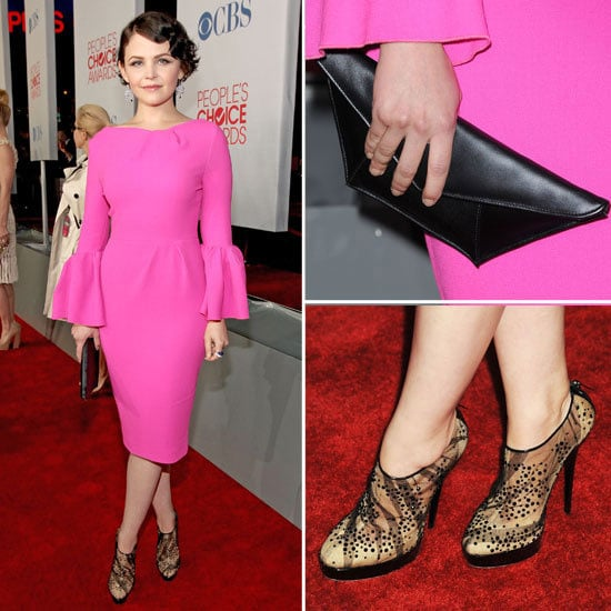 Ginnifer Goodwin Stands Out in Hot Pink Roksanda Ilincic dress on the 2012 People's Choice Awards Red Carpet