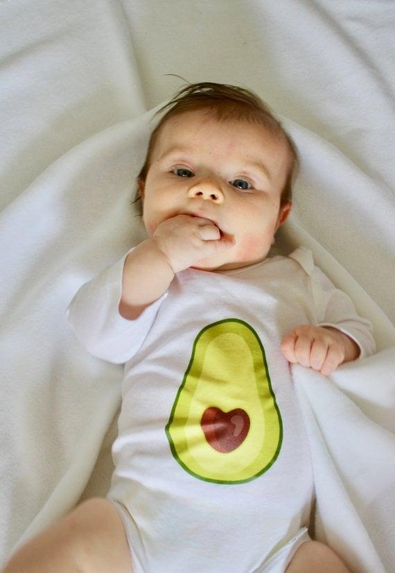 Avocado Heart Onesie