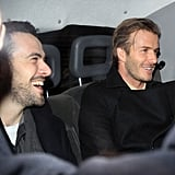 David Beckham was happy to go home in London.