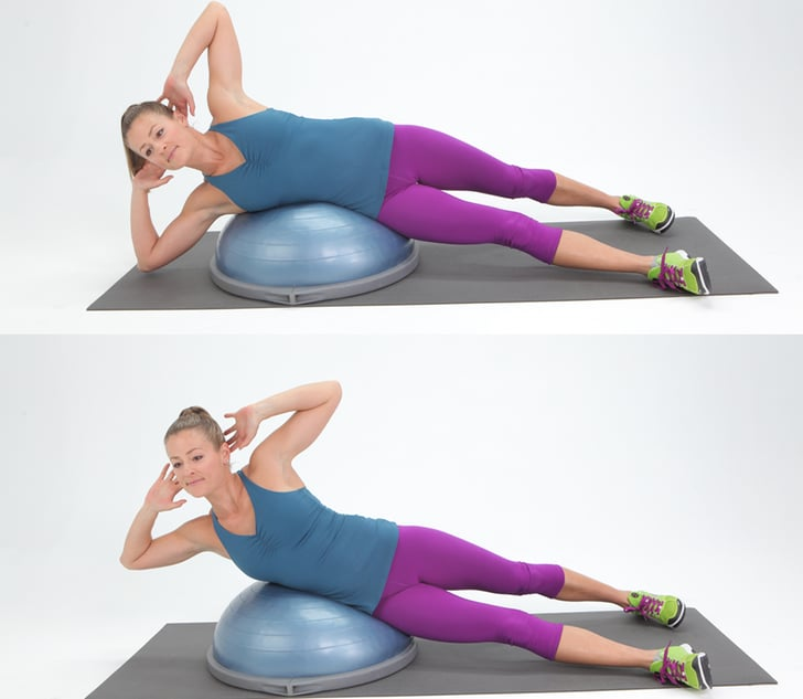 Bosu Ball Side Jumps: Obliques Exercises