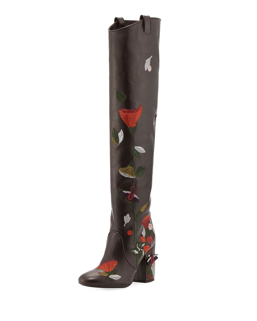 Laurence Dacade Silas Embroidered Leather Knee Boot