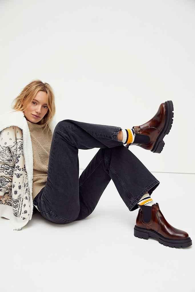 Free People Lola Lugged Sole Chelsea Boots