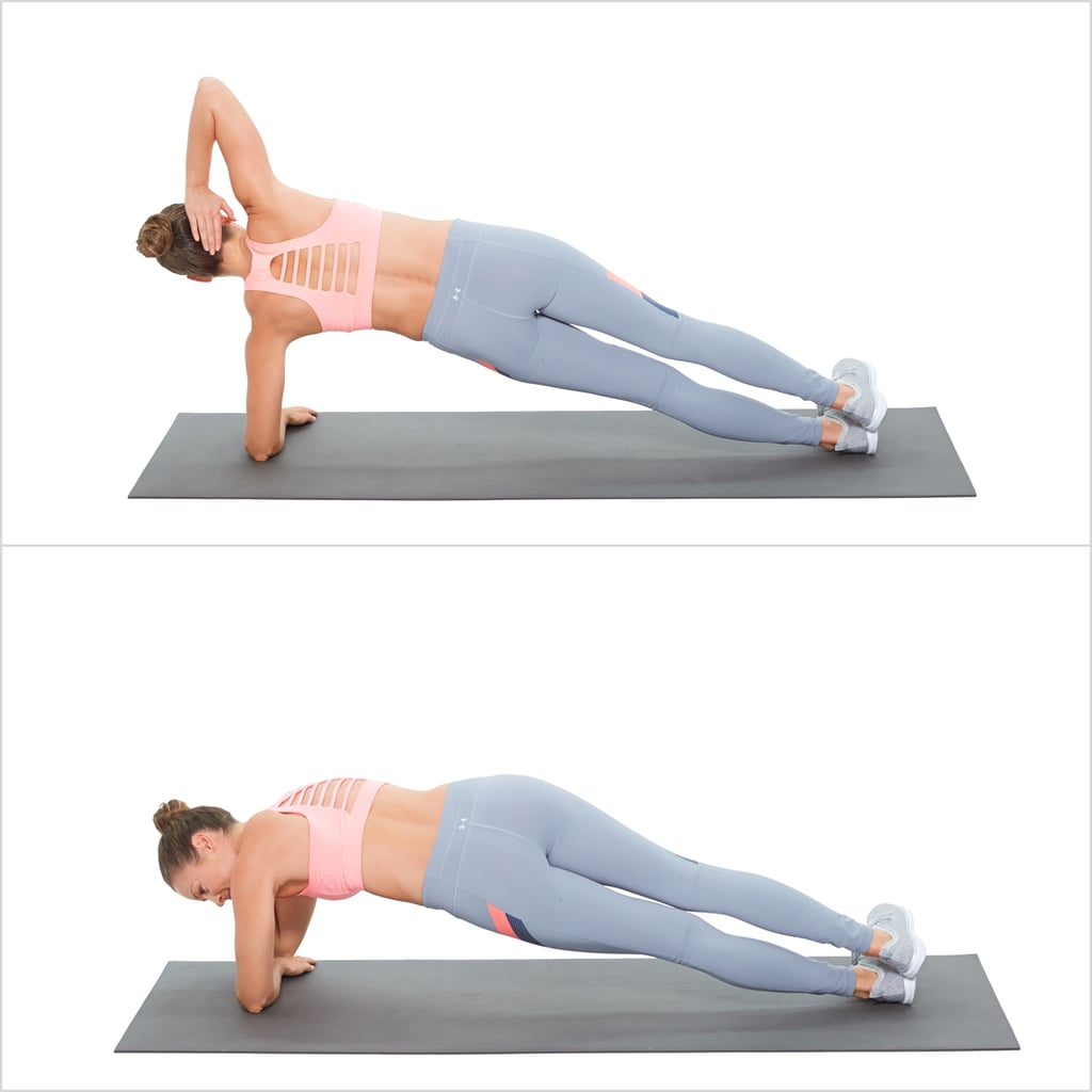 Elbow Plank With a Twist Left