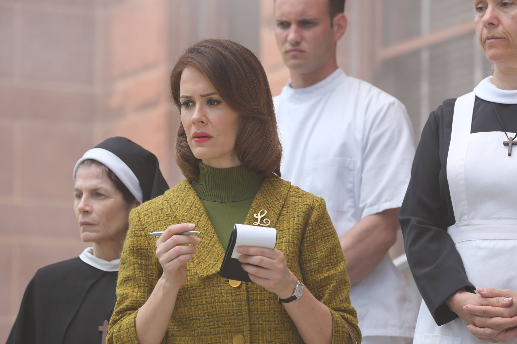 AMERICAN HORROR STORY: ASYLUM, Sarah Paulson in 'Welcome to Briarcliff' (Season 2, Episode 1, aired October 17, 2012), 2011-, ph: Michael Yarish/FX Networks/courtesy Everett Collection