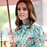 Kate Wore a Poppy Print Dress to Chase Away the Rainy-Day Blues