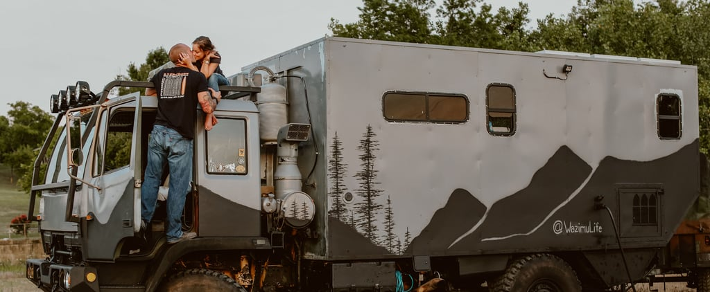 Couple Lives in a Converted Military Truck
