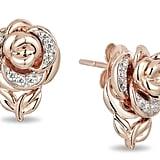 Disney Belle Diamond Rose Stud Earrings