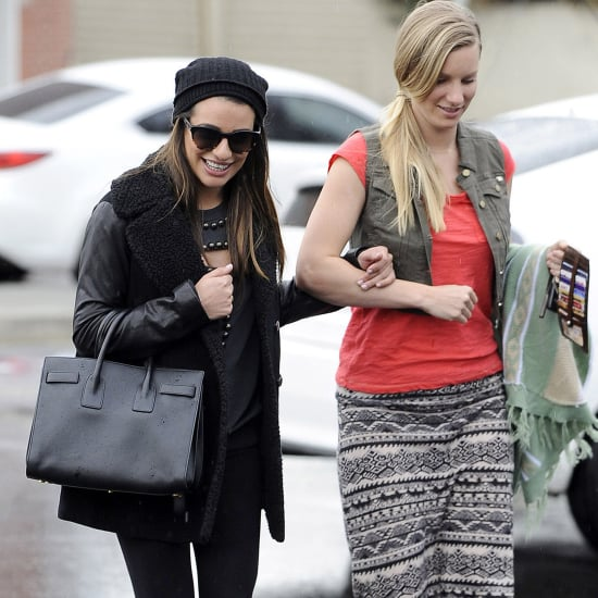 Lea Michele and Heather Morris Hanging Out in LA