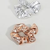 ASOS Pack of 2 Metallic Hair Scrunchies