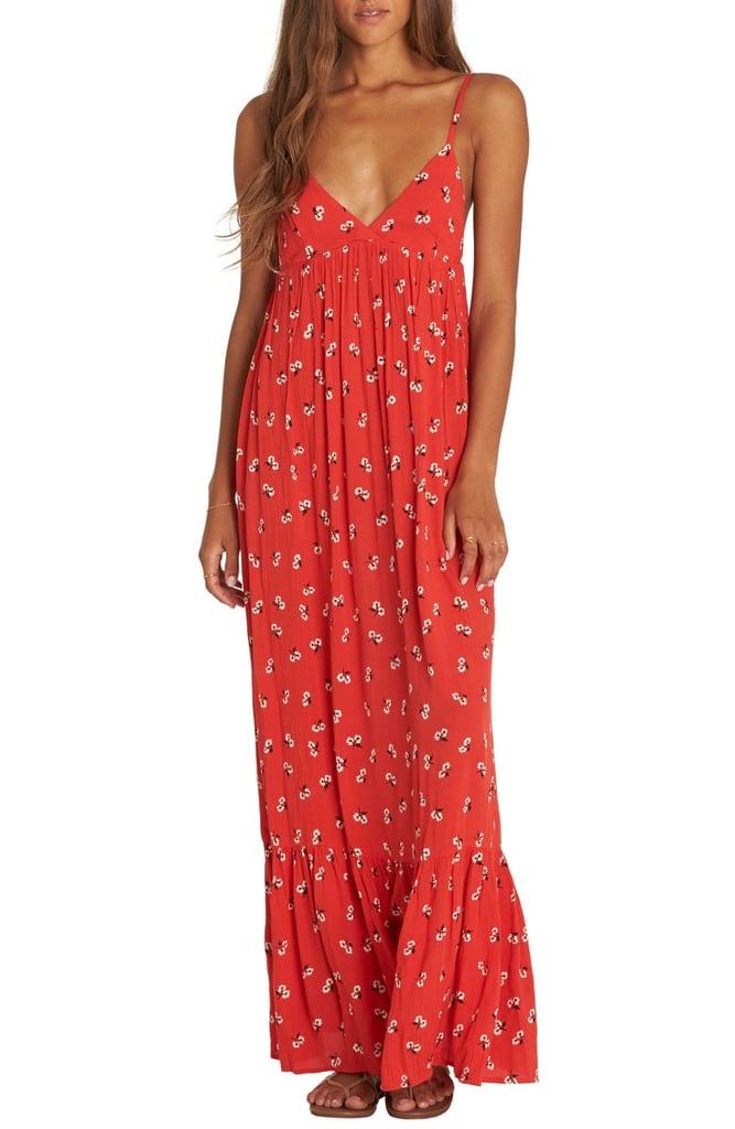 936757392475 Billabong Flamed Out Print Maxi Dress
