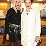 Elisabeth von Thurn und Taxis and Eugenie Niarchos toasted the Paris Loewe boutique at the label's cocktail party. Source: Loewe