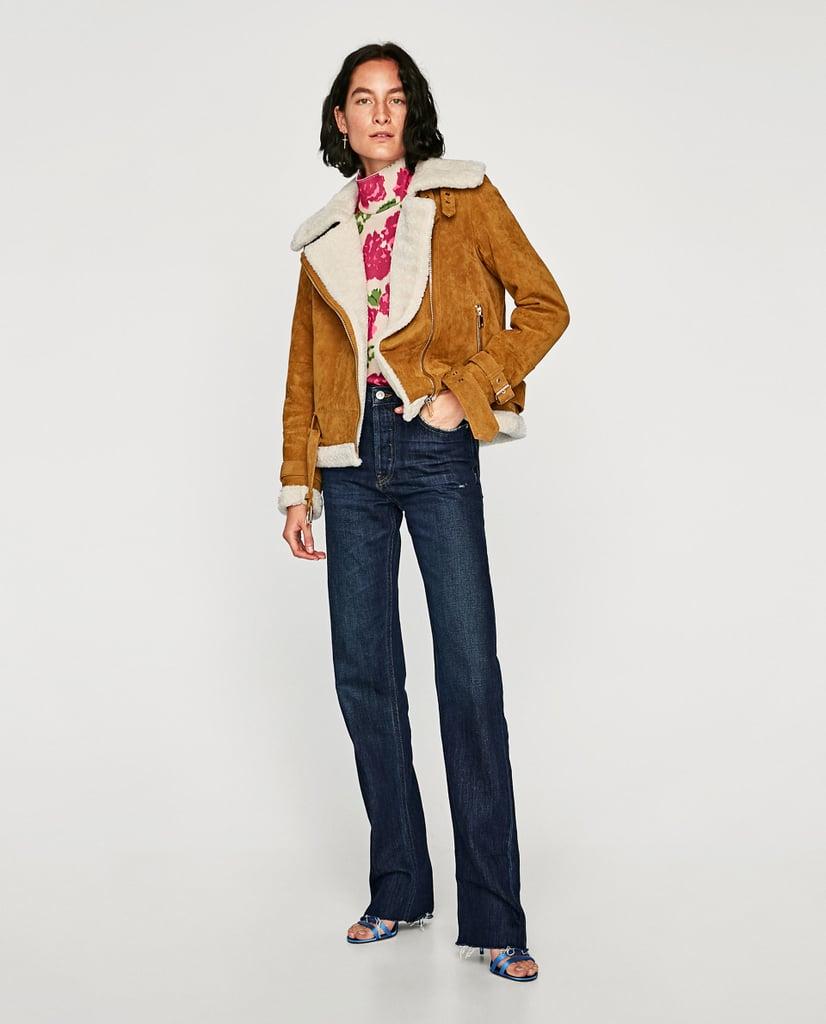 Zara Leather Biker Jacket