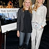 Kate Hudson hosted a screening of the Impossible with Naomi Watts in NYC.