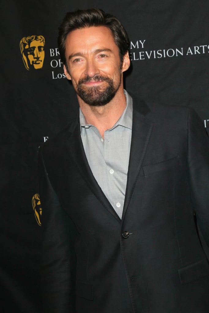 Hugh Jackman arrived at the BAFTA Awards Tea Party.