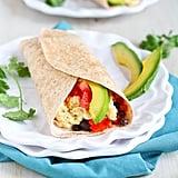Healthy Breakfast Burrito With Chipotle Yoghurt
