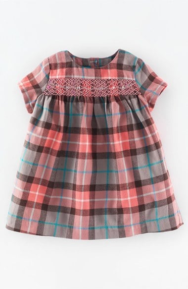 Mini Boden 'Sweet' Embroidered Pleated Dress