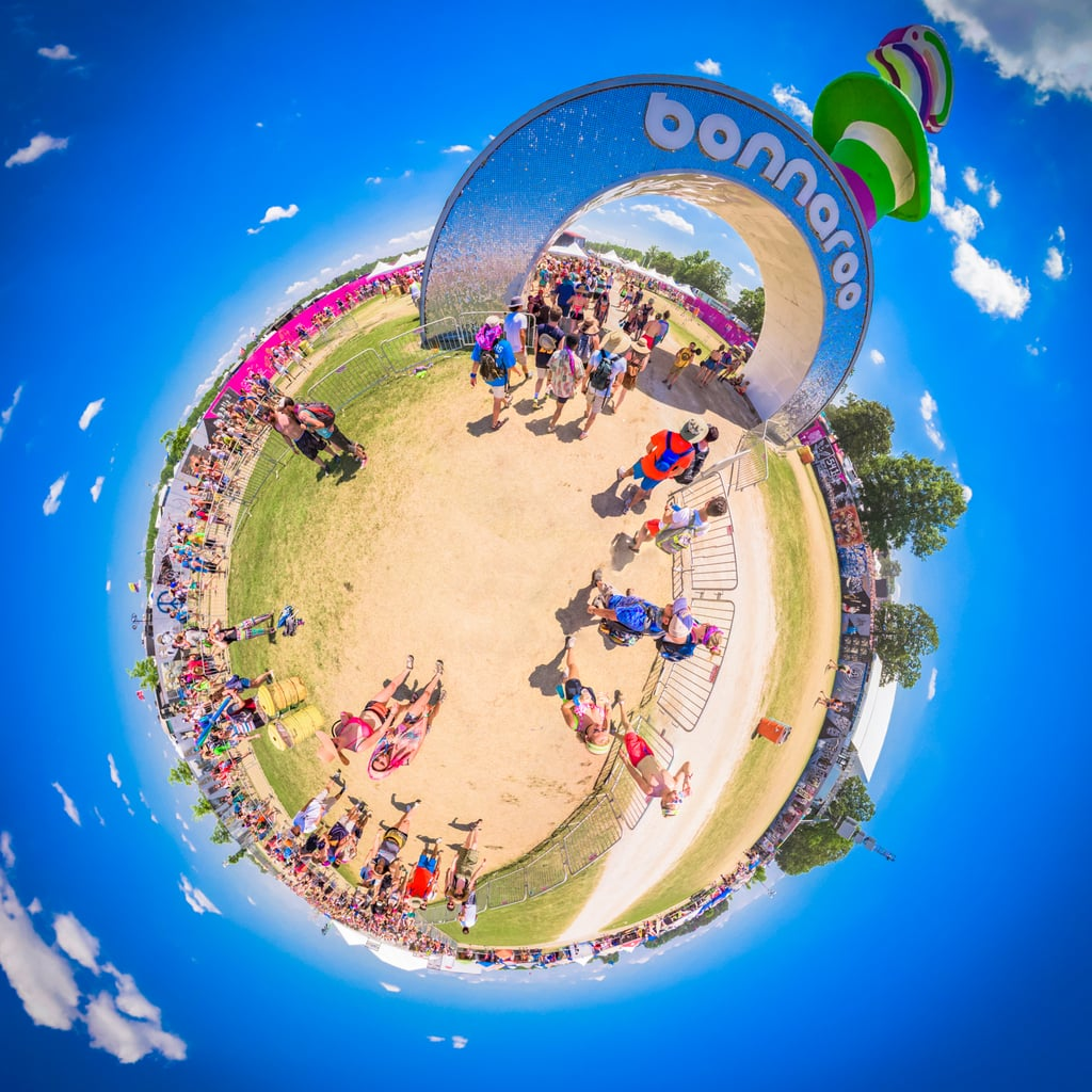 Bonnaroo reimagined as a planet in 2016.