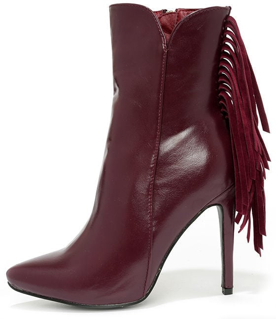 LuLu's High Heel Fringe Booties ($44)