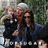 David and Victoria Beckham hung out with Harper in London.