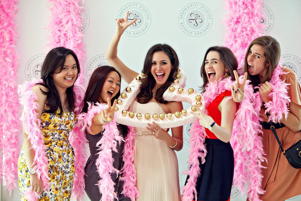 """Plan and host the bridal shower. Keep a record of prewedding gifts for thank-you cards. Collect the bows and ribbons from the bridal shower gifts, and create a """"bow-quet"""" for the rehearsal. Serve as the bridesmaid ringleader. Keep them in the loop on parties and activities, and make sure they stay on task. Plan the bachelorette party if the bride wants one. Coordinate travel, splitting the costs, activities, and invitations."""