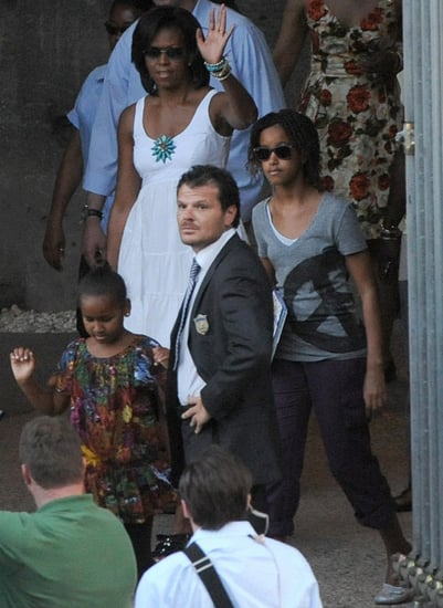 Sasha and Malia Obama Make Gelato at Giolitti in Rome, Italy