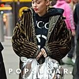Miley Cyrus's Fendi Faux Fur Coat December 2018