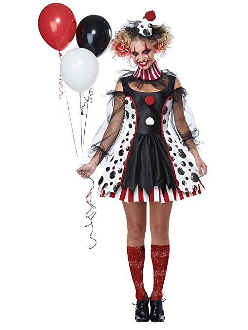 twisted clown costume scary costumes on for