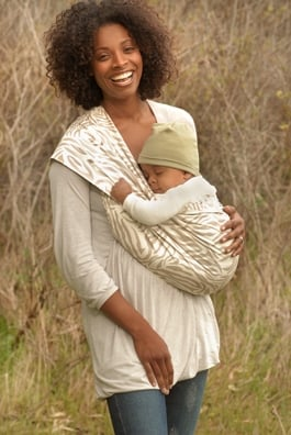 New Native Cotton Baby Carrier in Zebra Print ($43)