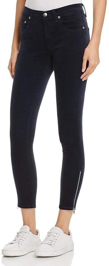 Rag & Bone Ame Velvet Skinny Jeans