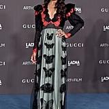 Zoe Saldana at the 2019 LACMA Art+Film Gala