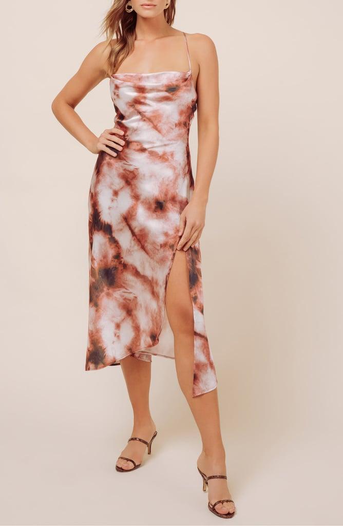 ASTR the Label Cowl Neck Midi Dress