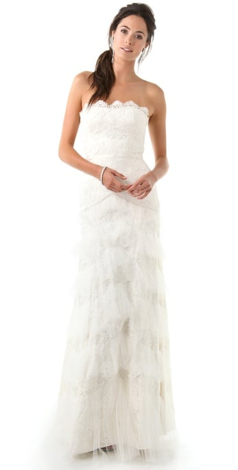 """I'm not typically drawn to lacy gowns, but Temperley bridal is unbelievably gorgeous, and this dress in particular manages to deliver the prettiest lace layers and intricate feminine details without being too froofy or frilly. It's stunning."" — Hannah Weil, assistant editor Temperley London Long Dove Bridal Dress ($6,575)"