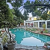 The large pool can be used all year long in LA's mild weather.   Source: Everett Fenton Gidley