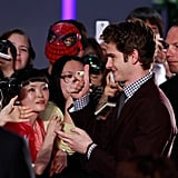 Andrew Garfield signed autographs for fans.