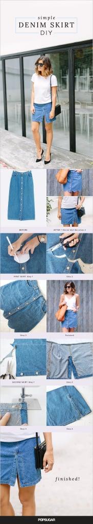 DIY Denim Skirt