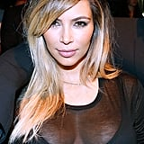 Kim surprised everyone when she stepped out as a blonde at Givenchy's Spring 2014 show in Paris.