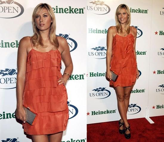 Maria Sharapova Wears Stella McCartney at 2008 US Open USTA/Heineken Premium Light Official Players Party