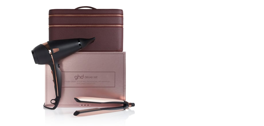 GHD Royal Dynasty Platinum+ Styler and Air Professional Hairdryer Deluxe Set