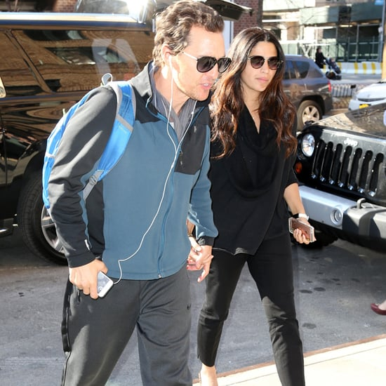 Camila Alves and Matthew McConaughey in NYC March 2016