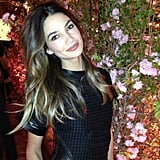 Lily Aldridge looked gorgeous in black leather at an event for Salvatore Ferragamo. Source: Instagram user officiallilyaldridge